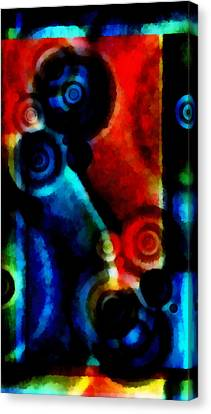 A Drop In The Puddle 1 Canvas Print by Angelina Vick