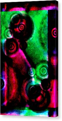 A Drop In The Puddle 3 Canvas Print by Angelina Vick