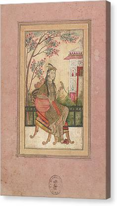 A European Lady Canvas Print by British Library