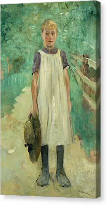 A Farmgirl Canvas Print by Thomas Ludwig Herbst