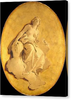 A Female Allegorical Figure Canvas Print by Giovanni Battista Tiepolo