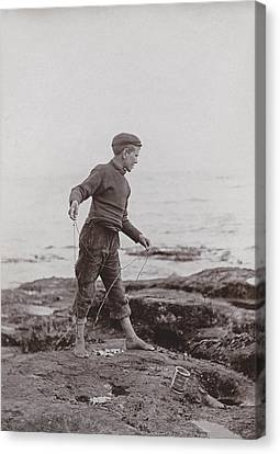 A Fisher Laddie Canvas Print by James Patrck