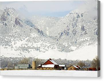 A Flatirons Favorite Canvas Print by Marilyn Hunt