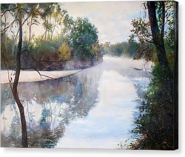 A Foggy Day Canvas Print by Nancy Stutes