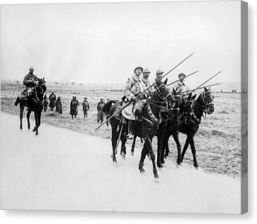 A French Cavalry Patrol Canvas Print by Underwood Archives