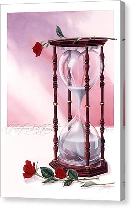 A Friend Loves At All Times Canvas Print by Cliff Hawley