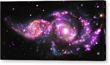 A Galactic Get-together Canvas Print by Nasa