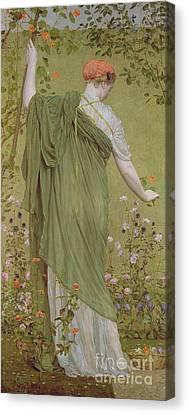 A Garden Canvas Print by Albert Joseph Moore