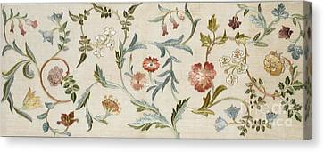 Doodle Art Canvas Print featuring the tapestry - textile A Garden Piece by May Morris