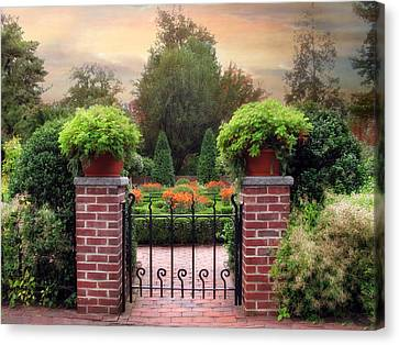 A Gated Garden Canvas Print by Jessica Jenney