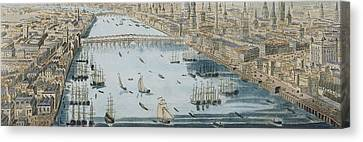 A General View Of The City Of London And The River Thames Canvas Print by Thomas Bowles