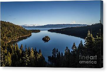 A Generic Photo Of Emerald Bay Canvas Print by Mitch Shindelbower