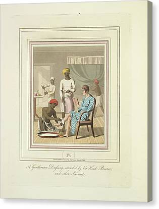 A Gentleman Dressing Canvas Print by British Library