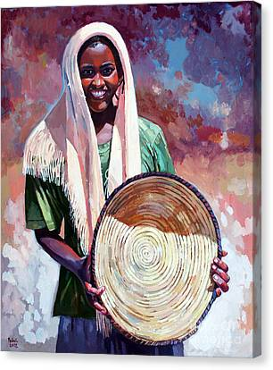 A Girl From The Countryside Canvas Print by Mohamed Fadul