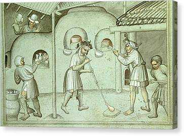 A Glass Blowing Factory Canvas Print by British Library