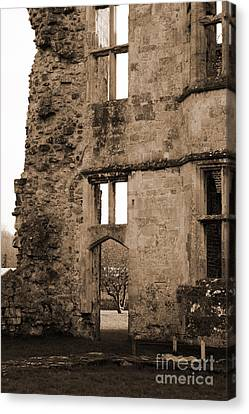 A Glimpse Of Titchfield Abbey Orchard Canvas Print by Terri Waters