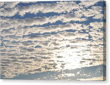 A Glorious New Day Canvas Print by Paulette B Wright