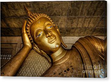 A Golden Buddha  Canvas Print by Adrian Evans