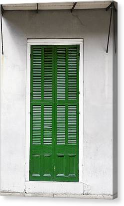 A Green Door In New Orleans Canvas Print by Christine Till