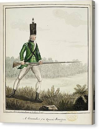 A Grenadier Of The Queen's Rangers Canvas Print by British Library