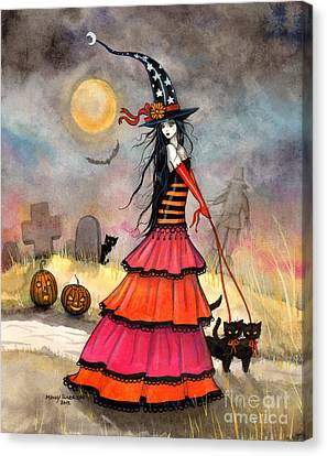 A Halloween Stroll Canvas Print by Molly Harrison