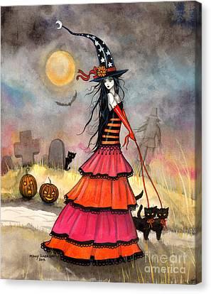 A Halloween Stroll Canvas Print by Molly Harrison