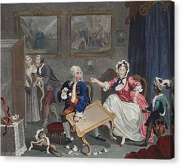 A Harlots Progress, Plate II Canvas Print by William Hogarth