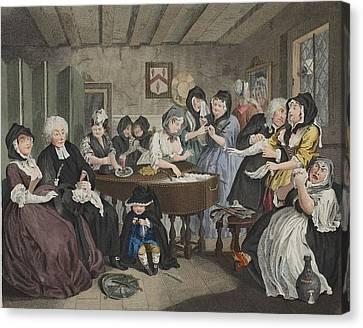 A Harlots Progress, Plate Vi Canvas Print by William Hogarth