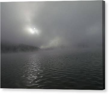 A Haunting Morning On Cave Run Lake Canvas Print by Amy Manley