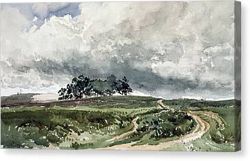 A Heath Scene Canvas Print by Thomas Collier