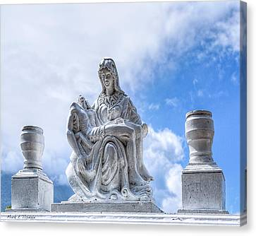 A Heavenly Pieta In Nicaragua Canvas Print by Mark E Tisdale