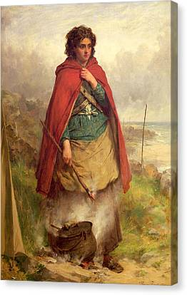 A Highland Gypsy, 1870 Oil On Canvas Canvas Print by Thomas Faed