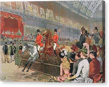 A Horse Race Canvas Print by Adrien Emmanuel Marie