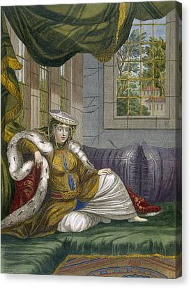 A Jewish Woman In Ceremonial Dress Canvas Print by French School
