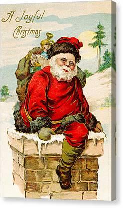 A Joyful Christmas Canvas Print by Vintage Christmas Card