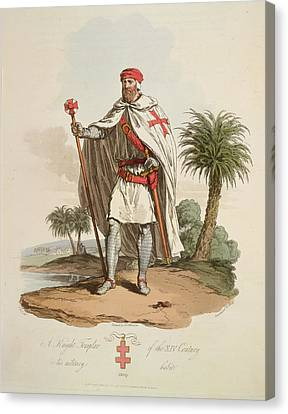 A Knight Templar Canvas Print by British Library