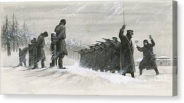 A Last Minute Reprieve Saved Fyodor Dostoievski From The Firing Squad Canvas Print by  Ralph Bruce