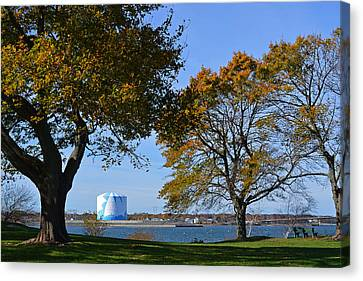 A Late Fall Afternoon On The Salem Willows Canvas Print by Toby McGuire