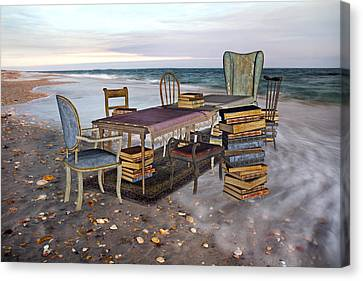 A Library Of Oceans Canvas Print by Betsy C Knapp