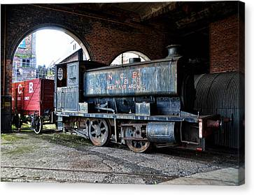 A Locomotive At The Colliery Canvas Print by RicardMN Photography