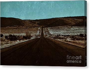 A Long Road Of Nothingness Canvas Print by Douglas Barnard