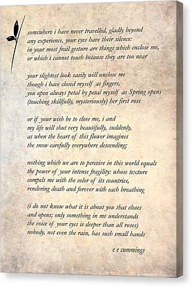A Love Poem Canvas Print by Steve Harrington