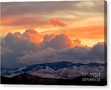 A Lovely Stormy Susnset Canvas Print by Phyllis Kaltenbach