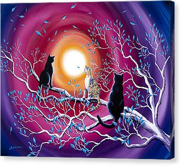 A Magical Autumn Night Canvas Print by Laura Iverson