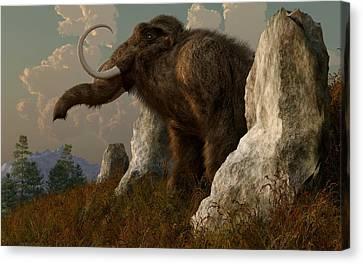 A Mammoth On Monument Hill Canvas Print by Daniel Eskridge
