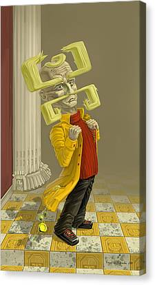 A Man Of Style Canvas Print by Augustinas Raginskis