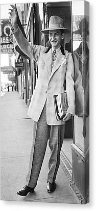 A Man Wearing A Zoot-suit Canvas Print by Underwood Archives