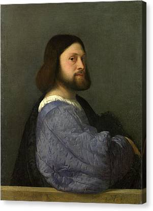 A Man With A Quilted Sleeve Canvas Print by Titian