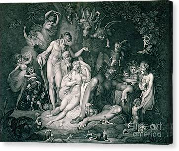 A Midsummer Nights Dream Canvas Print by Henry Fuseli