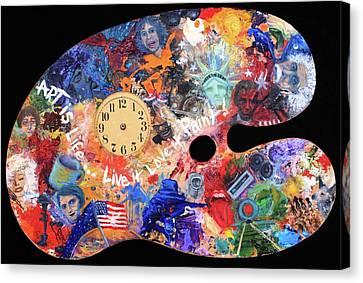 A Minds Eye Palette Canvas Print by Trish Bilich